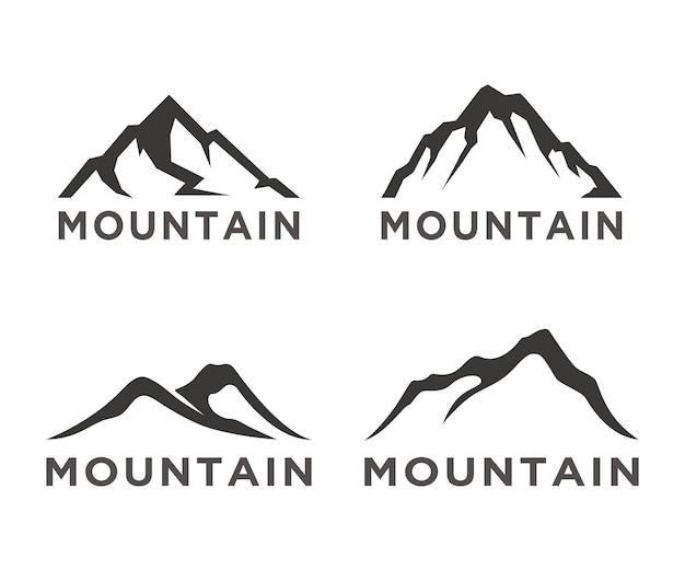 Collection de logos de silhouette de montagne