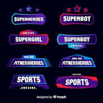 Collection de logos sportifs modernes