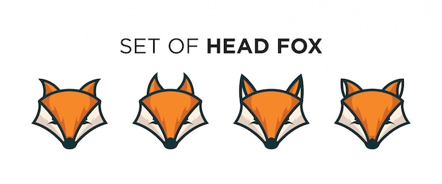 Collection de logos de têtes de renard