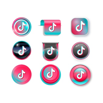 Collection de logos tiktok