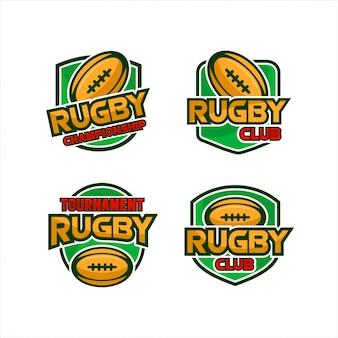 Collection de logos de tournois du rugby club