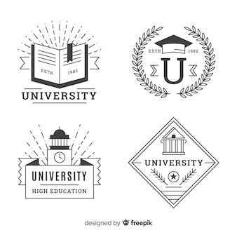 Collection de logos universitaires dans un style plat
