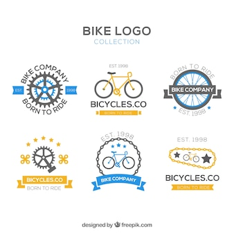 Collection de logos vintage pour vélos