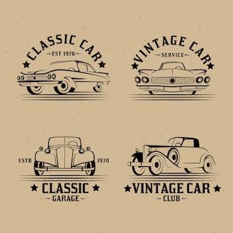 Collection de logos de voitures anciennes