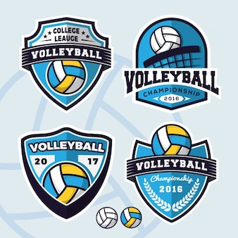 Collection de logos de volley-ball