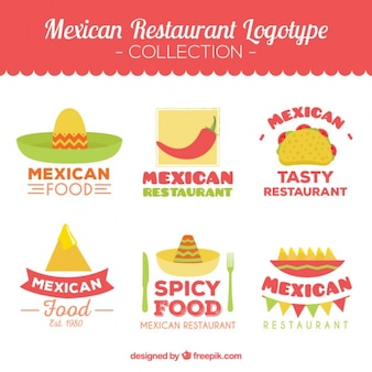 Collection logotype restaurant mexicain