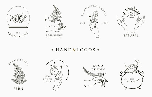 Collection de logotypes dessinés à la main