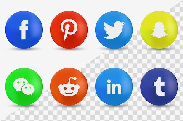 Collection de logotypes de médias sociaux