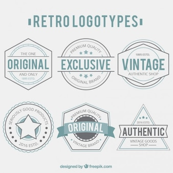 Collection logotypes retro