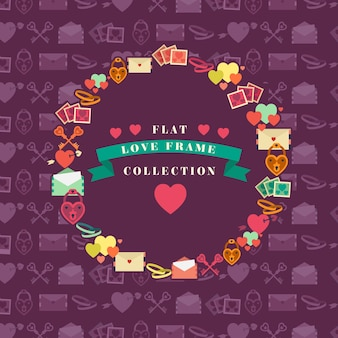 Collection love frame flat