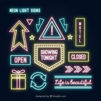 Collection de lumière au néon