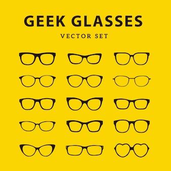 Collection de lunettes de geek