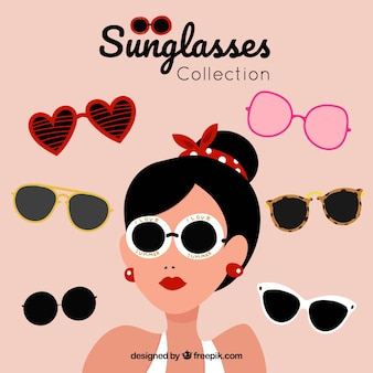 Collection de lunettes de soleil colorées et modernes