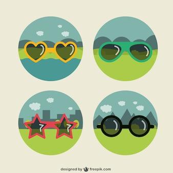 Collection de lunettes de soleil drôles