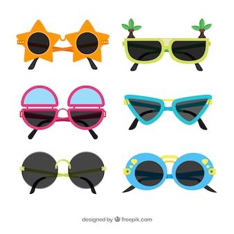 Collection de lunettes de soleil moderne dans un style plat