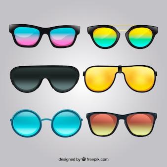 Collection de lunettes de soleil réaliste