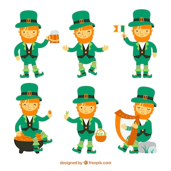 Collection de lutins st patricks day