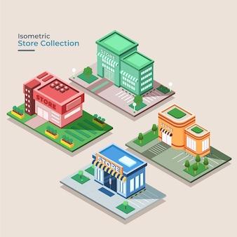 Collection de magasins isométriques