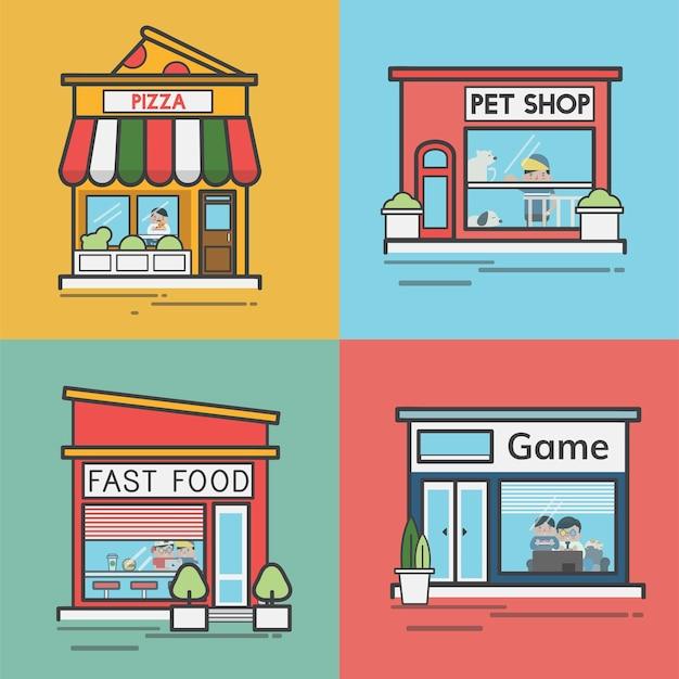 Collection de magasins et magasins