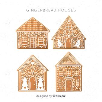 Collection de maison en pain d'épice