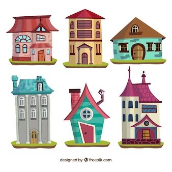 Collection de maisons de conte de fées