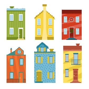 Collection de maisons design plat