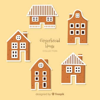Collection de maisons de gingercookie de noël