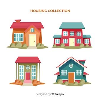Collection de maisons d'habitation
