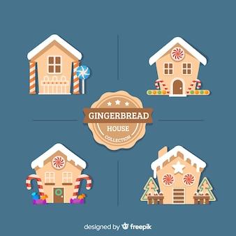 Collection de maisons en pain d'épice