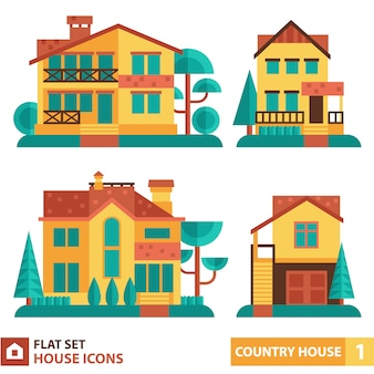 Collection maisons plates