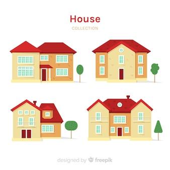 Collection de maisons plates