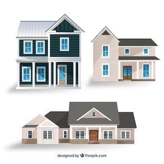 Collection de maisons réalistes