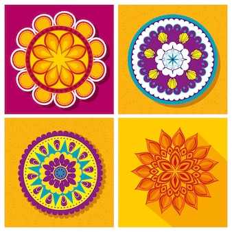 Collection de mandala d'ornement