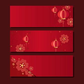 Collection de maquettes du nouvel an chinois