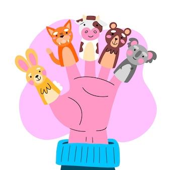 Collection de marionnettes à doigt mignonnes pour enfants