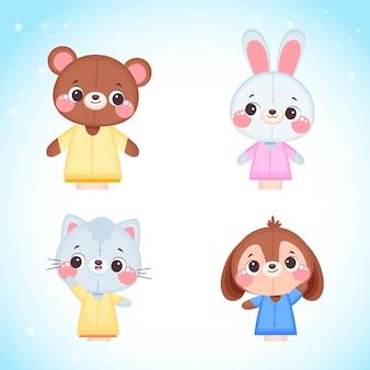 Collection de marionnettes à main mignonnes pour enfants