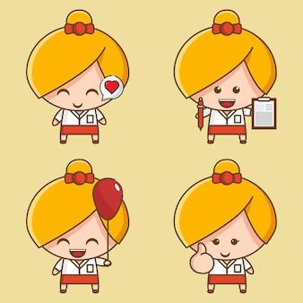 Collection de mascottes fille mignonne