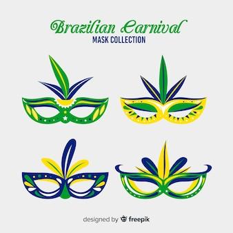 Collection de masques de carnaval brésilien