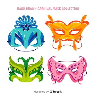 Collection de masques de carnaval