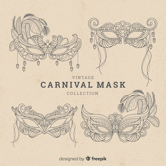 Collection de masques de carnaval