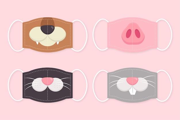 Collection de masques pour animaux