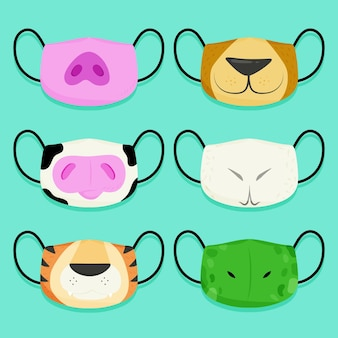 Collection de masques pour animaux