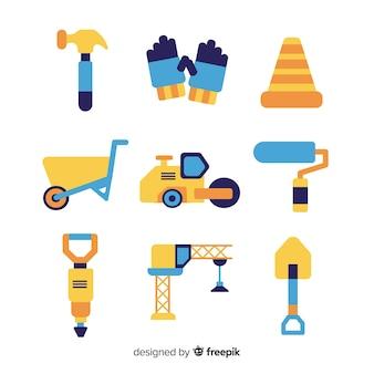 Collection de matériel de construction plat