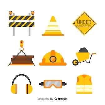 Collection de matériel de construction
