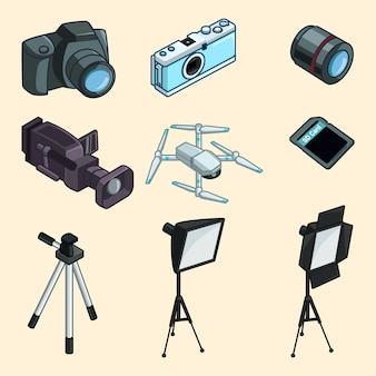 Collection de matériel de photographie