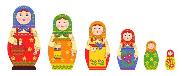Collection matryoshka
