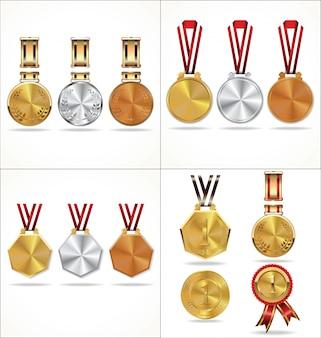Collection de médailles d'or