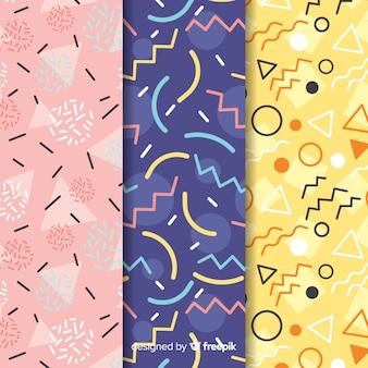 Collection memphis avec des formes géométriques