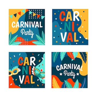 Collection de messages instagram de carival party