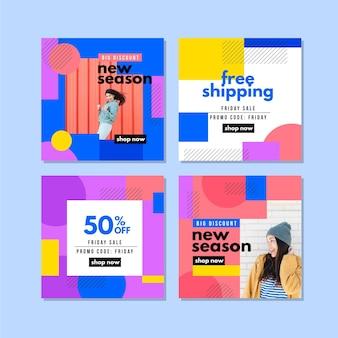 Collection de messages instagram colorés